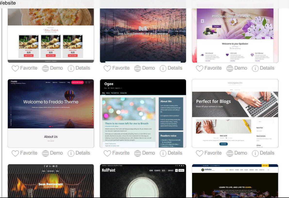 WordPress Themes.