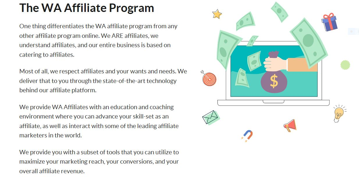 Wealthy Affiliate recuring commisions.