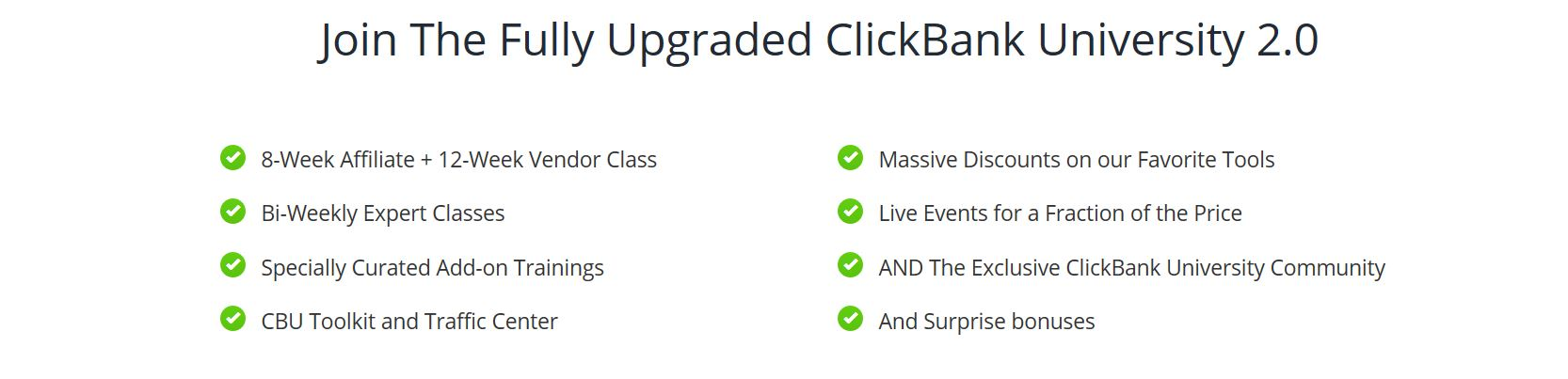 ClickBank University Upgrade.