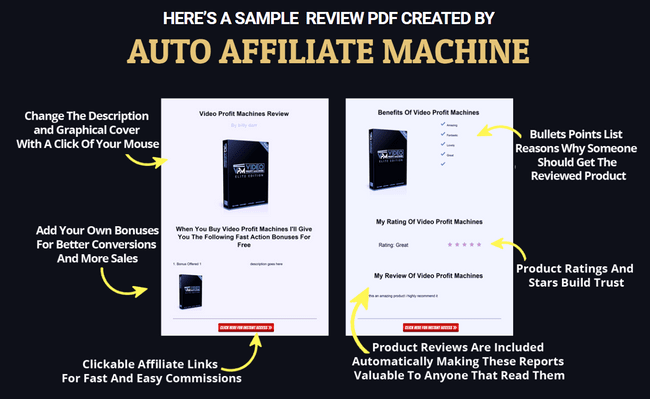 Auto Affiliate machine PDF sample.