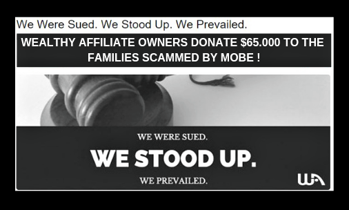 Wealthy Affiliate Owners Kyle and Carson give $65.000 back to families scammed by Mobe