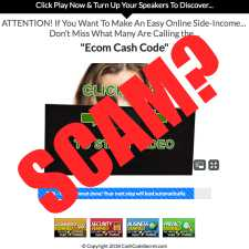 Ecom cash code is a scam