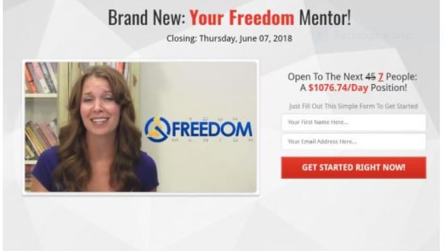 Freedom Mentor Actress off Fiverr.
