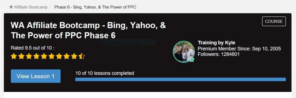 Bing Yahoo and the power of PPC. Training at wealthy affiliate pahese 6 Boot Camp.