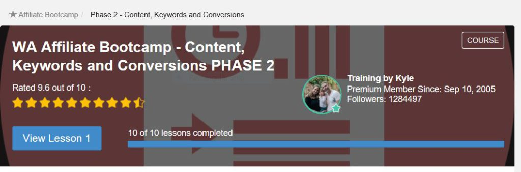 Content Keywords and conversion. Phase 2 Of Affiliate bootcamp.