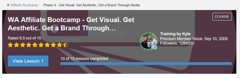 Get Visual Boot camp Training Phase 4 at Wealthy Affiliate Premium Members only.