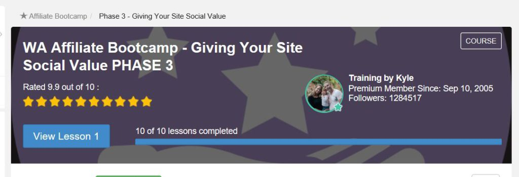 Giving your site Social value. New updates coming 2019 at Wealthy Affiliate. Premium Members only.