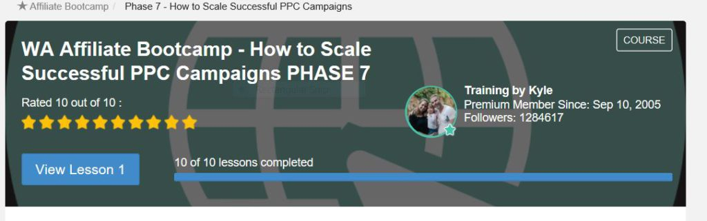 How to scale Successful PPC campaigns. Premium members only at Wealthy Affiliate.