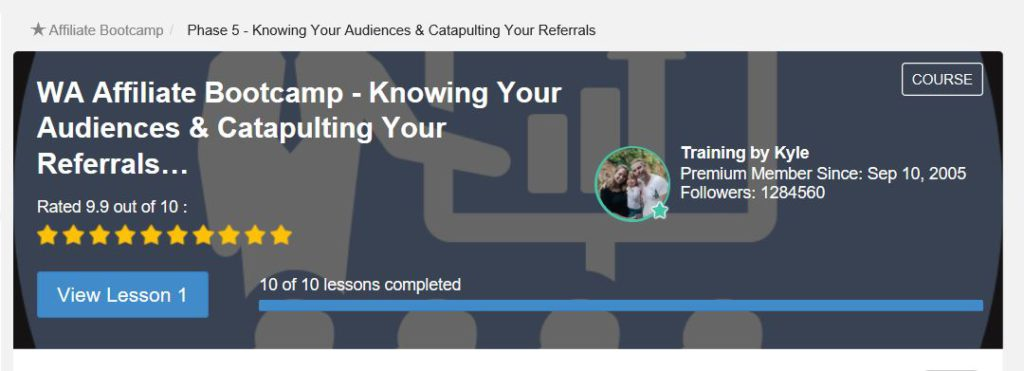 Know your audience and catapult your referrals Phase 5 bootcamp training at Wealthy Affiliate. Premium only members.