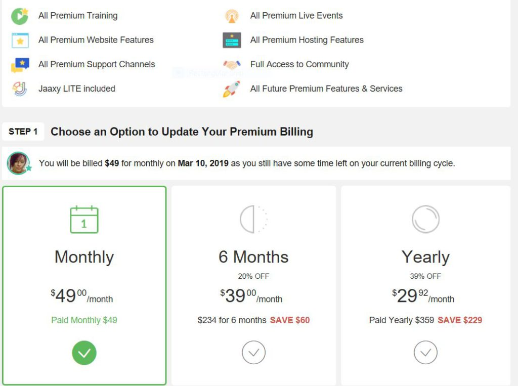 Premium Options now have 6 months options at Wealthy Affiliate.
