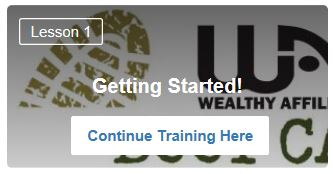 Wealthy Affiliate Free training Getting Started lesson 1.