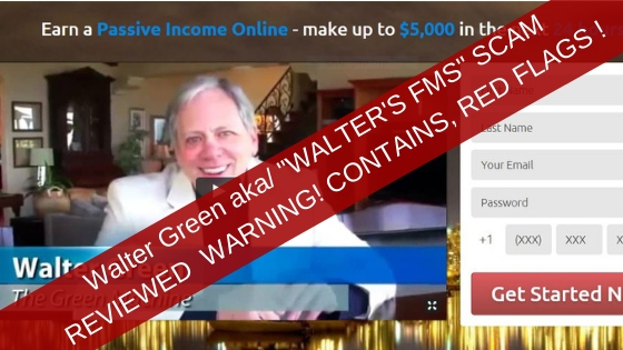 Walter Green AKA Walter's FMS Scam Reviewed Warning. Red Flags