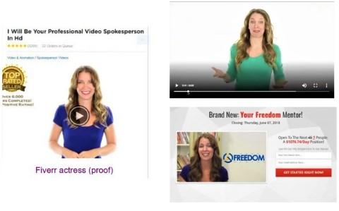 Fake testimonials same fiverr actress