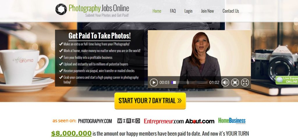 Photgography Jobs Online Scam Reviewed.