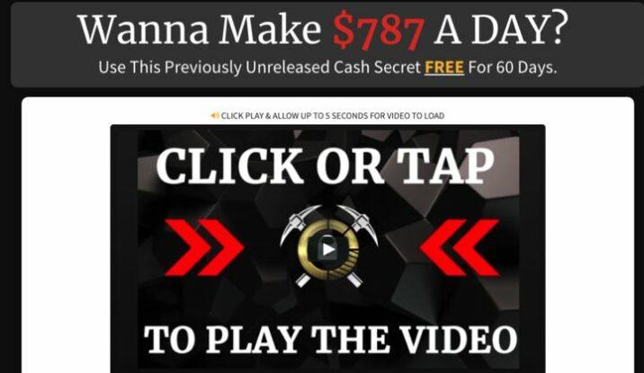 Secret Online Goldmine sales video scam reviewed.