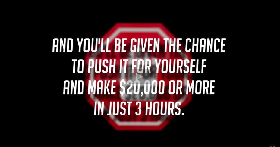 Push the button and earn $20,000+ in three hours.