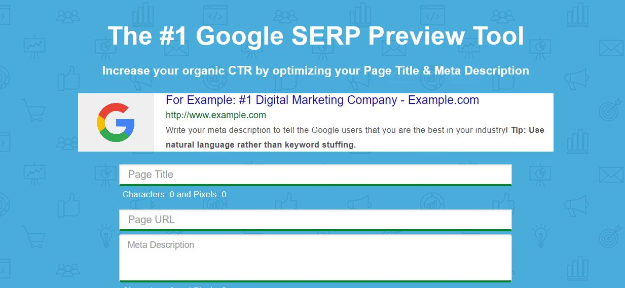 Google SERP preview tool