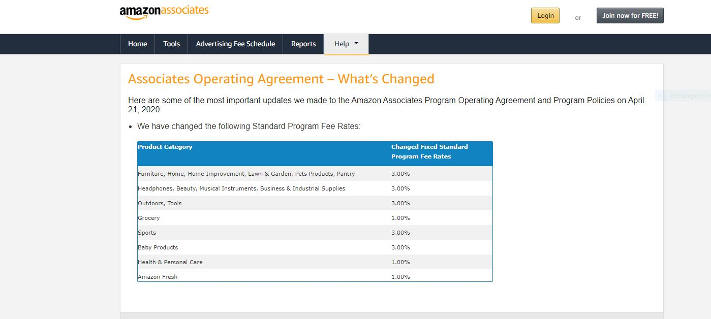 Amazon Operating Associate Agreement