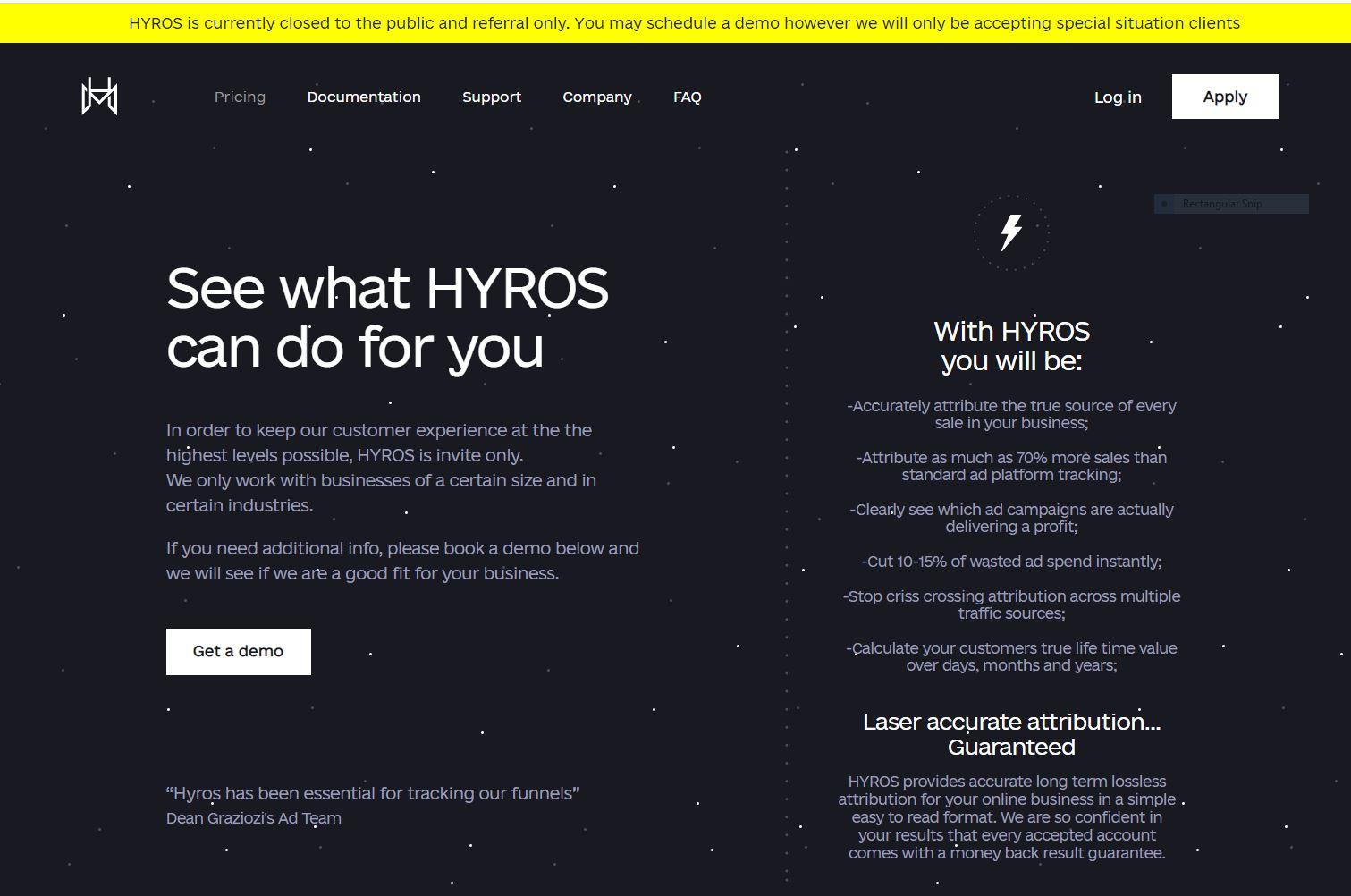 Hyros-is-closed